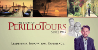 Perillo Tours History of Perillo Tours video thumbnail reads; History of Perillo Tours Since 1945, Leadership. Innovation. Experience.(video production by Merging Media)