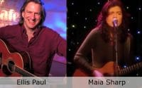 Live at Club Cafe Episode 7 features split screen of two music artists to preform on the stage of Club Cafe in Pittsburgh, Pennsylvania, Ellis Paul on the left and Maia Sharp on the right (video production by Merging Media).