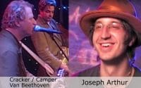 Live at Club Cafe Episode 8 features a split screen of two musical artists in action, Cracker-Camper Van Beethoven on the left while Joseph Arthur is on the right, performing on the stage of Club Cafe in Pittsburgh, Pennsylvania (video production by Merging Media).