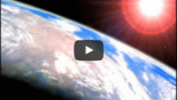 USWeb Everest Opening video thumbnail is a view from space of a portion of the earth with red ringed aura around the sun that is shinning above the earth.